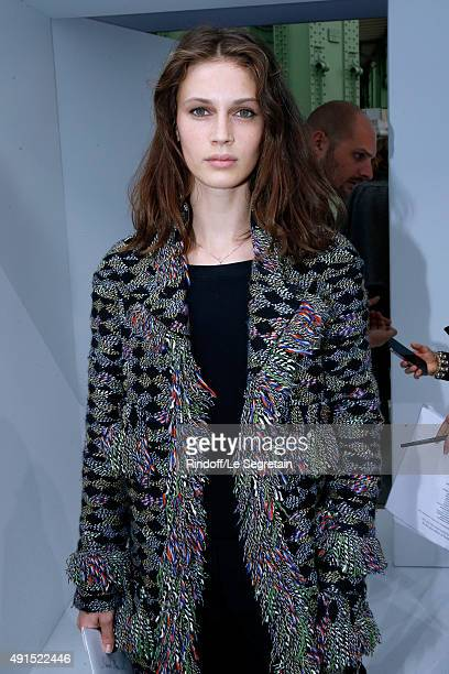 Actress Marine Vacth attends the Chanel show as part of the Paris Fashion Week Womenswear Spring/Summer 2016 Held at Grand Palais on October 6 2015...