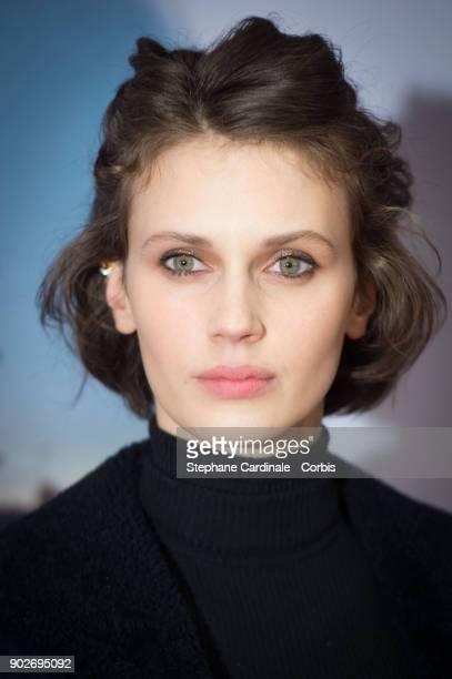 Actress Marine Vacth attends the Si Tu Voyais Son Coeur Paris Premiere at UGC Cine Cite des Halles on January 8 2018 in Paris France