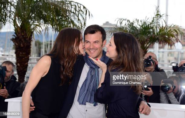 Actress Marine Vacth director Francois Ozon and actress Geraldine Pailhas attend the photocall for 'Jeune Jolie' during the 66th Annual Cannes Film...
