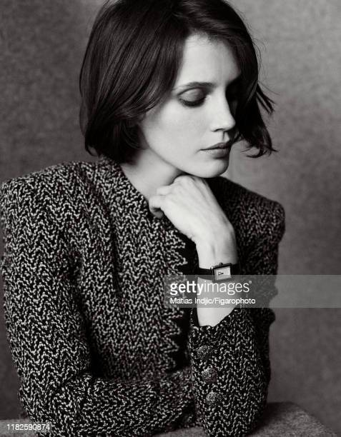 Actress Marine Vacth is photographed for Madame Figaro on January 20, 2018 in Paris, France. Jacket by Chanel, watch by Chanel Horlogerie. Make-up by...