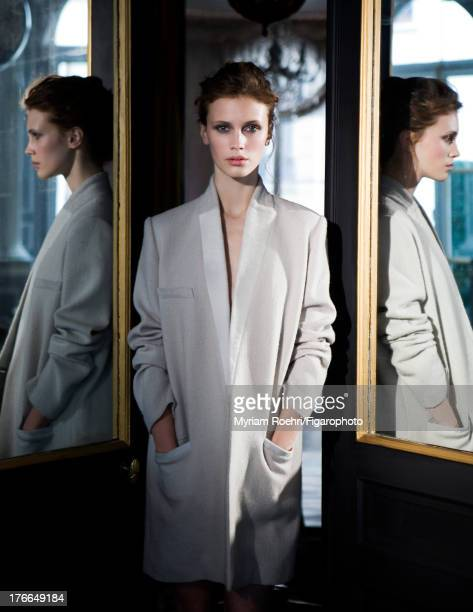 107106002 Actress Marine Vacth is photographed for Madame Figaro on June 13 2013 in Paris France All Makeup by Yves SaintLaurent PUBLISHED IMAGE...