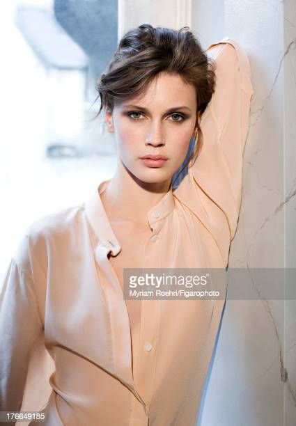 107106003 Actress Marine Vacth is photographed for Madame Figaro on June 13 2013 in Paris France Shirt Makeup by Yves SaintLaurent COVER IMAGE CREDIT...