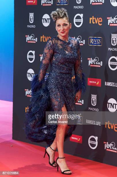 Actress Mariola Fuentes attends the Platino Awards 2017 photocall at the La Caja Magica on July 22 2017 in Madrid Spain