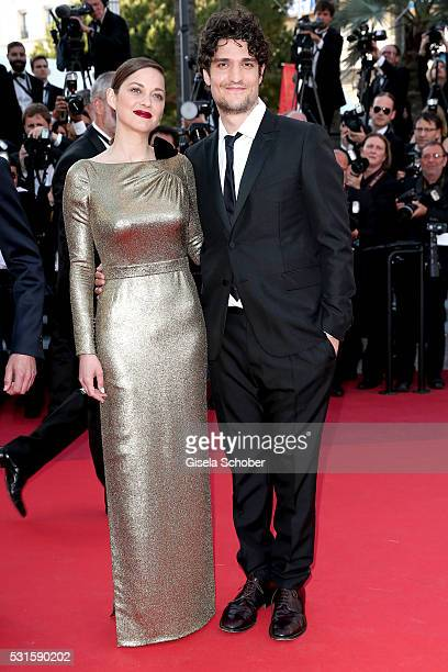 """Actress Marion Cotillard and actor Louis Garrel attend the """"From The Land Of The Moon """" premiere during the 69th annual Cannes Film Festival at the..."""