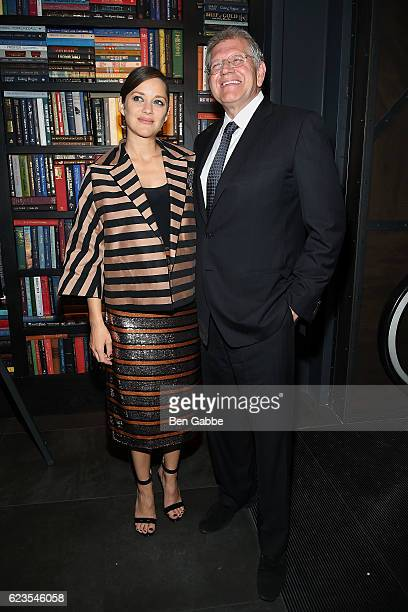 Actress Marion Cotillard and director Robert Zemeckis attend the after party of 'Allied' hosted by Paramount Pictures The Cinema Society Chandon at...
