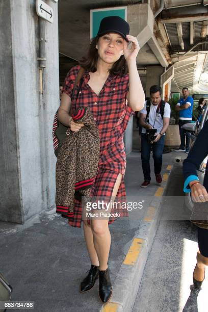Actress Marion Cotillard arrives at Nice airport ahead of the 70th annual Cannes Film Festival at on May 16 2017 in Cannes France