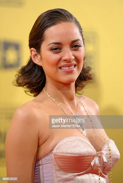 Actress Marion Cotillard arrives at the 15th annual Critics' Choice Movie Awards held at the Hollywood Palladium on January 15 2010 in Hollywood...