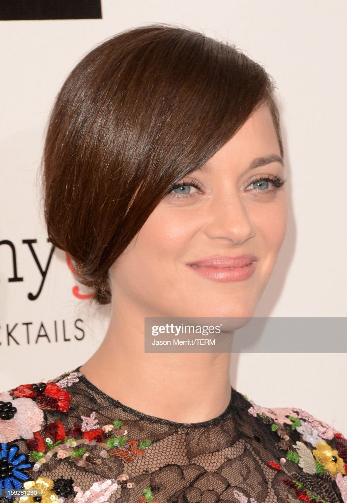 Actress Marion Cotillard arrives at the 18th Annual Critics' Choice Movie Awards held at Barker Hangar on January 10, 2013 in Santa Monica, California.
