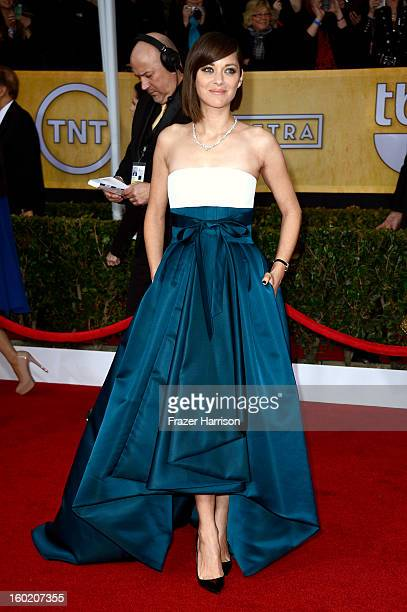 Actress Marion Cotillard arrives at the 19th Annual Screen Actors Guild Awards held at The Shrine Auditorium on January 27 2013 in Los Angeles...