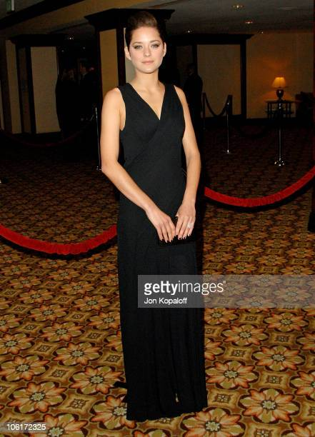 Actress Marion Cotillard arrives at the '60th Annual Directors Guild of America Awards' at the Hyatt Regency Century Plaza Hotel on January 26 2008...