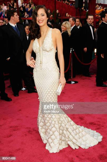 Actress Marion Cotillard arrives at the 80th Annual Academy Awards at the Kodak Theatre on February 24 2008 in Hollywood
