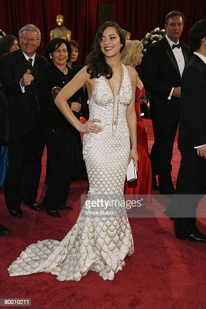 Actress Marion Cotillard arrives at the 80th Annual Academy Awards held at the Kodak Theatre on February 24 2008 in Hollywood California