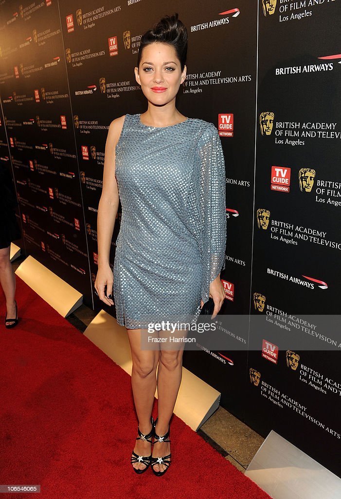 Actress Marion Cotillard arrives at the BAFTA Los Angeles 2010 Britannia Awards held at the Hyatt Regency Century Plaza on November 4, 2010 in Century City, California. The BAFTA Los Angeles 2010 Brittania Awards will be aired on the TV Guide Channel on November 7th, 2010.