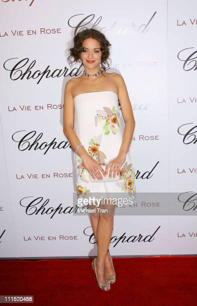 Actress Marion Cotillard arrives at the Chopard and Picturehouse hosts An Evening with La Vie En Rose Marion Cotillard held at Chateau Marmont on...