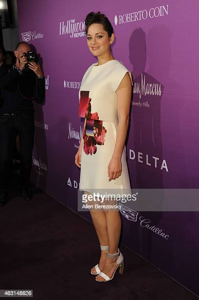 Actress Marion Cotillard arrives at The Hollywood Reporter's 3rd annual Academy Awards Nominees Night at Spago on February 2 2015 in Beverly Hills...