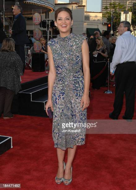 Actress Marion Cotillard arrives at the Los Angeles Premiere 'Public Enemies' at Mann Village Theatre on June 23 2009 in Westwood Los Angeles...