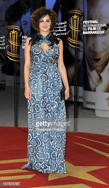 Actress Marion Cotillard arrives at the Opening Ceremony of the Marrakech 10th International Film Festival on December 3 2010 in Marrakech Morocco