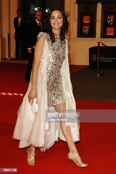 Actress Marion Cotillard arrives at the Orange British Academy Film Awards at the Royal Opera House on February 10 2008 in London England