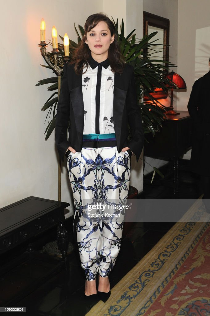 Actress Marion Cotillard attends Dom Perignon and W Magazine's celebration of The Golden Globes at Chateau Marmont on January 11, 2013 in Los Angeles, California.