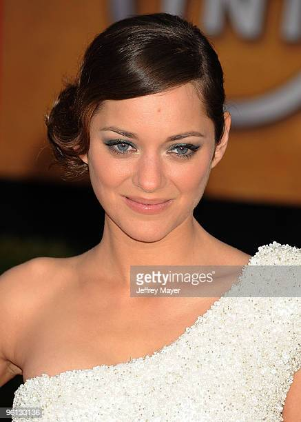 Actress Marion Cotillard attends the 16th Annual Screen Actors Guild Awards at The Shrine Auditorium on January 23 2010 in Los Angeles California