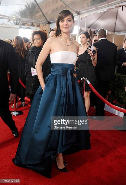 Actress Marion Cotillard attends the 19th Annual Screen Actors Guild Awards at The Shrine Auditorium on January 27 2013 in Los Angeles California...