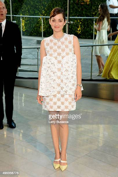 Actress Marion Cotillard attends the 2014 CFDA fashion awards at Alice Tully Hall Lincoln Center on June 2 2014 in New York City