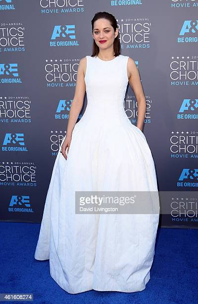 Actress Marion Cotillard attends the 20th Annual Critics' Choice Movie Awards at the Palladium on January 15 2015 in Los Angeles California