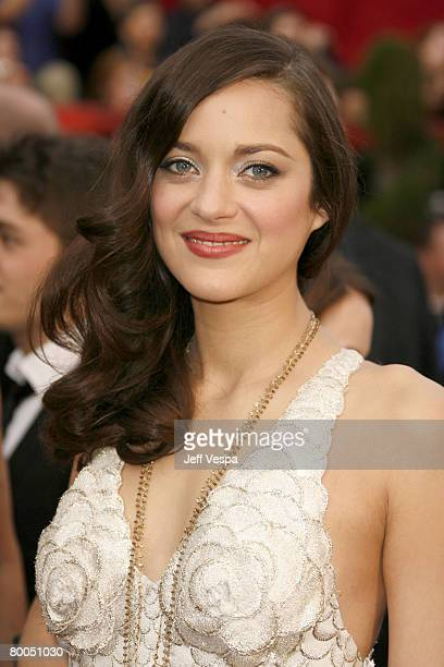 Actress Marion Cotillard attends the 80th Annual Academy Awards at the Kodak Theatre on February 24 2008 in Los Angeles California