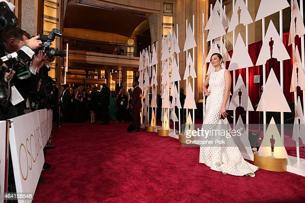 Actress Marion Cotillard attends the 87th Annual Academy Awards at Hollywood Highland Center on February 22 2015 in Hollywood California