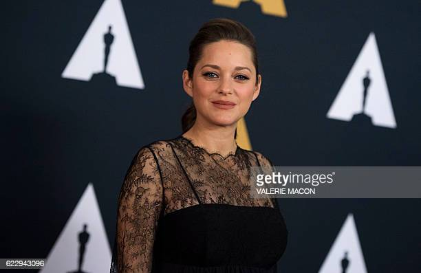 Actress Marion Cotillard attends the 8th Annual Governors Awards hosted by the Academy of Motion Picture Arts and Sciences on November 12 at the...
