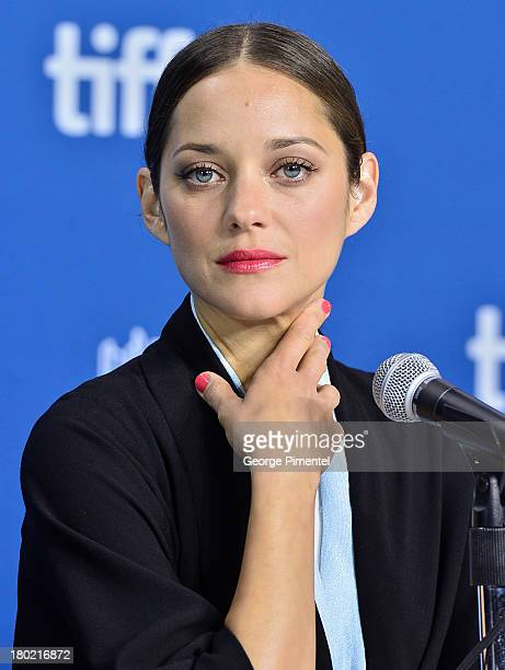 Actress Marion Cotillard attends the 'Blood Ties' Press Conference during the 2013 Toronto International Film Festival at TIFF Bell Lightbox on...
