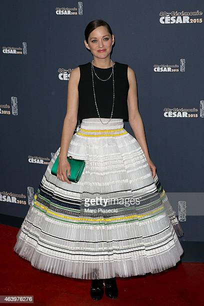 Actress Marion Cotillard attends the 'CESARS' Film awards at Theatre du Chatelet on February 20, 2015 in Paris, France.