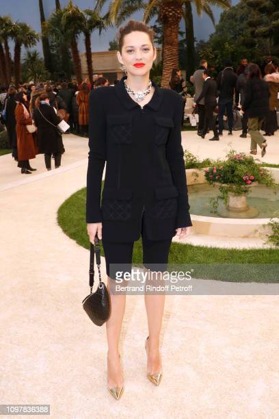 Actress Marion Cotillard attends the Chanel Haute Couture Spring Summer 2019 show as part of Paris Fashion Week on January 22 2019 in Paris France
