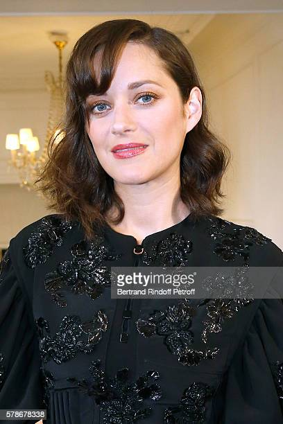 Actress Marion Cotillard attends the Christian Dior Haute Couture Fall/Winter 20162017 show as part of Paris Fashion Week on July 4 2016 in Paris...