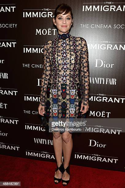 Actress Marion Cotillard attends the Dior Vanity Fair with The Cinema Society premiere of The Weinstein Company's 'The Immigrant' at The Paley Center...