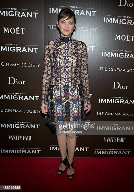 Actress Marion Cotillard attends the Dior Vanity Fair with The Cinema Society host the premiere of The Weinstein Company's 'The Immigrant' at The...