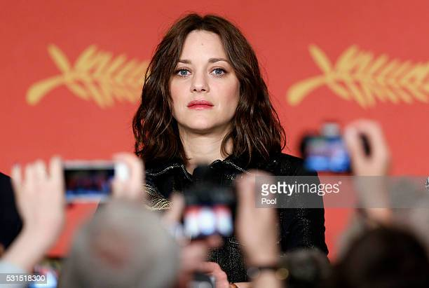 Actress Marion Cotillard attends the From The Land And The Moon Press Conference during the 69th annual Cannes Film Festival at the Palais des...