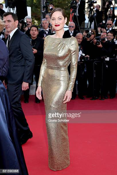 Actress Marion Cotillard attends the From The Land Of The Moon premiere during the 69th annual Cannes Film Festival at the Palais des Festivals on...