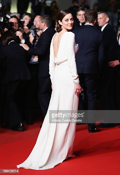 Actress Marion Cotillard attends 'The Immigrant' Premiere during the 66th Annual Cannes Film Festival at Grand Theatre Lumiere on May 24 2013 in...