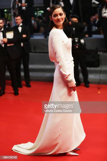 Actress Marion Cotillard attends The Immigrant Premiere during the 66th Annual Cannes Film Festival at Grand Theatre Lumiere on May 24 2013 in Cannes...