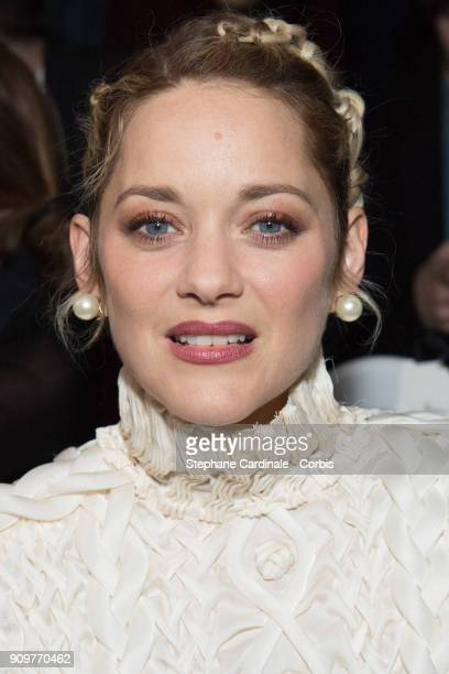 Actress Marion Cotillard attends the Jean Paul Gaultier Haute Couture Spring Summer 2018 show as part of Paris Fashion Week January 24 2018 in Paris...