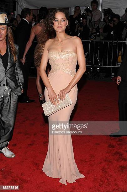 """Actress Marion Cotillard attends """"The Model as Muse: Embodying Fashion"""" Costume Institute Gala at The Metropolitan Museum of Art on May 4, 2009 in..."""