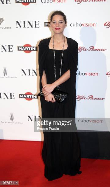 Actress Marion Cotillard attends the 'Nine' premiere at Auditorium Della Conciliazione on January 13 2010 in Rome Italy