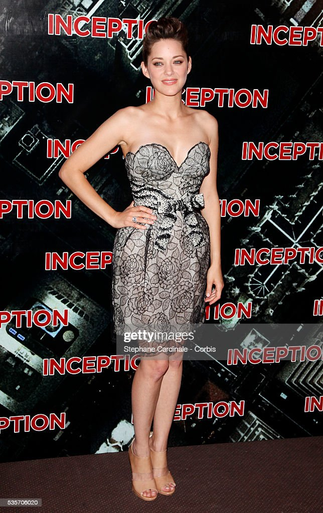 Actress Marion Cotillard Attends The Premiere Of Inception