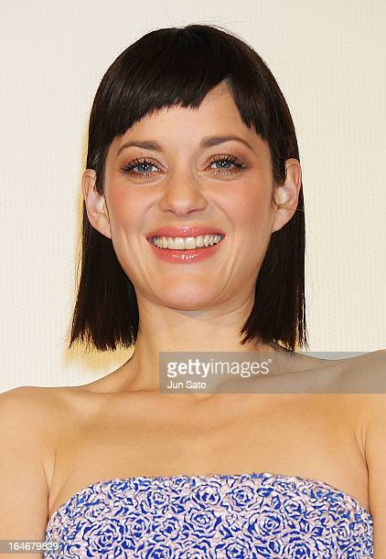 Actress Marion Cotillard attends the 'Rust And Bone ' Japan Premiere at Marunouchi Piccadilly on March 26 2013 in Tokyo Japan