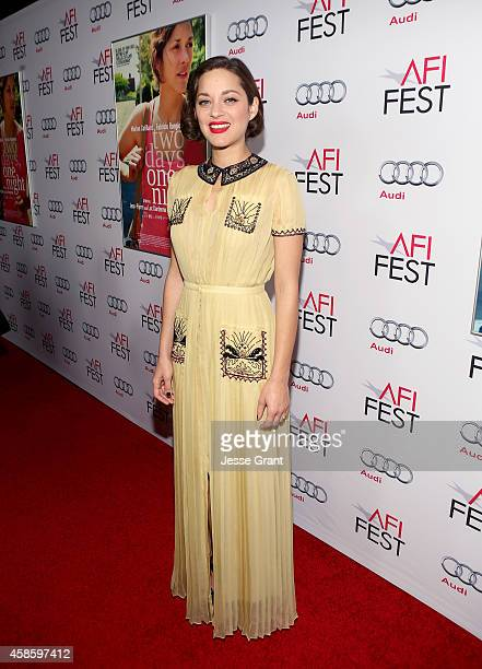 Actress Marion Cotillard attends the special screening of Two Days One Night during AFI FEST 2014 presented by Audi at the Egyptian Theatre on...