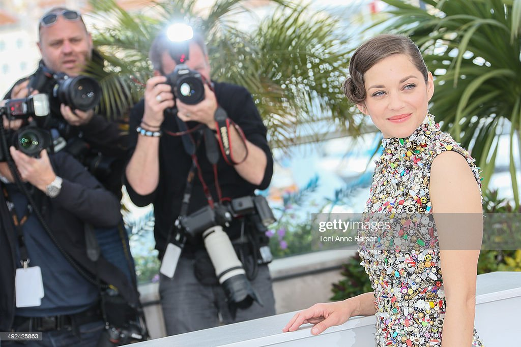 """""""Deux Jours, Une Nuit"""" Photocall - The 67th Annual Cannes Film Festival : News Photo"""