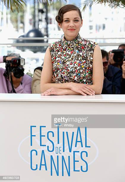 Actress Marion Cotillard attends the 'Two Days One Night' photocall during the 67th Annual Cannes Film Festival on May 20 2014 in Cannes France