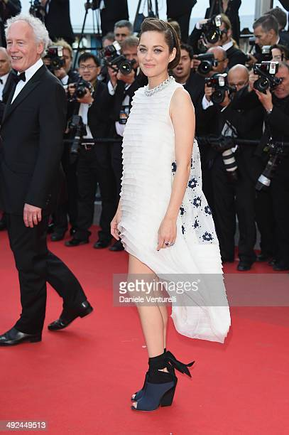Actress Marion Cotillard attends the 'Two Days One Night' premiere during the 67th Annual Cannes Film Festival on May 20 2014 in Cannes France