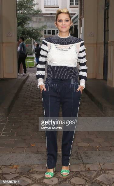 Actress Marion Cotillard attends the Valentino show as part of the Paris Fashion Week Womenswear Spring/Summer 2018 on October 1 2017 in Paris France